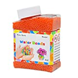 Pukido 8000PCS/Box Pearl Shaped Crystal Soil Water Loose Beads Mud Grow Magic Jelly Balls Home Decor - (Color: Orange)