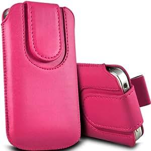 Nokia Lumia 635 premium protección PU botón magnético ficha de extracción Slip In Pouch Pocket Cordón Piel del Caso de la cubierta rápida Hot Pink por Spyrox
