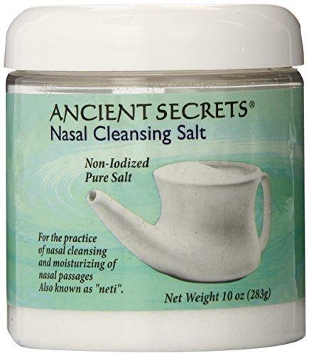 (Ancient Secrets Nasal Cleansing Salt, 10 oz,Jar by Ancient Secrets)