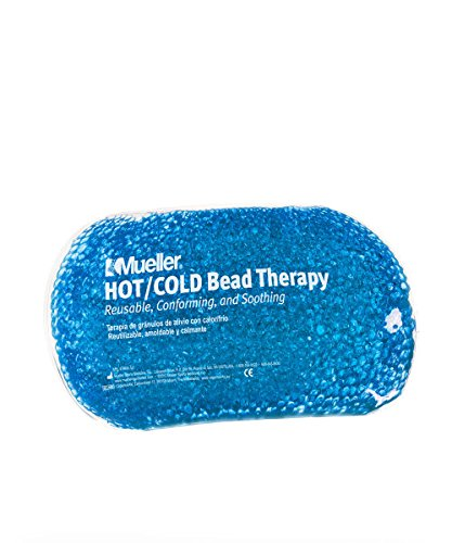 New Mueller 2 Pack Reusable Hot Cold Soothing Bead Therapy Ice & Heat Packs (Blue) ()