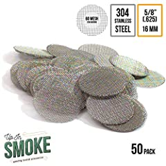 A great smoking experience starts with choosing the right smoking accessories. These screens are must have for any discerning smoking enthusiast.  These screens are Made in the USA. Not China or someplace else, right here! These screens keep...