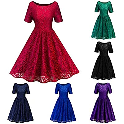 Dresses for Womens, FORUU Ladies Women's Vintage Lace Formal Wedding Cocktail Evening Party Ladies Swing Dress
