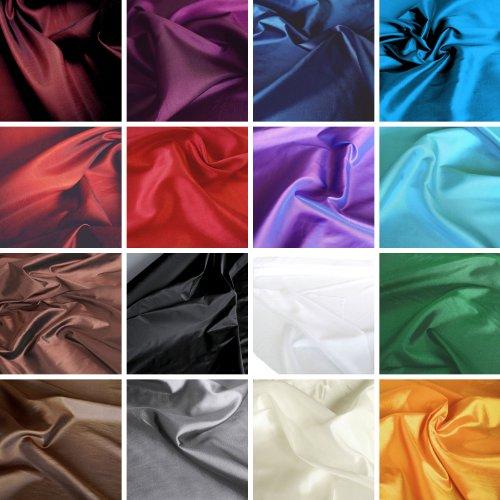 TOLKO® hochwertige Kleider-TAFT Stoffe Meterware blickdicht mit changierenden Farbeffekt (Weiß)