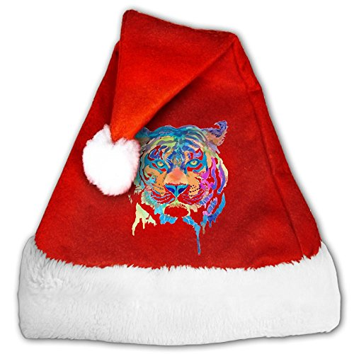 Price comparison product image Tiger Brave Animal Predator Classical Santa Hats Christmas Hat