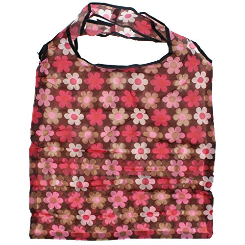 Bag Brown With Floral Clippable Pocket Alter Pouch Shopping Pink Ego Zac's Shaded Print in qfH8pa8w