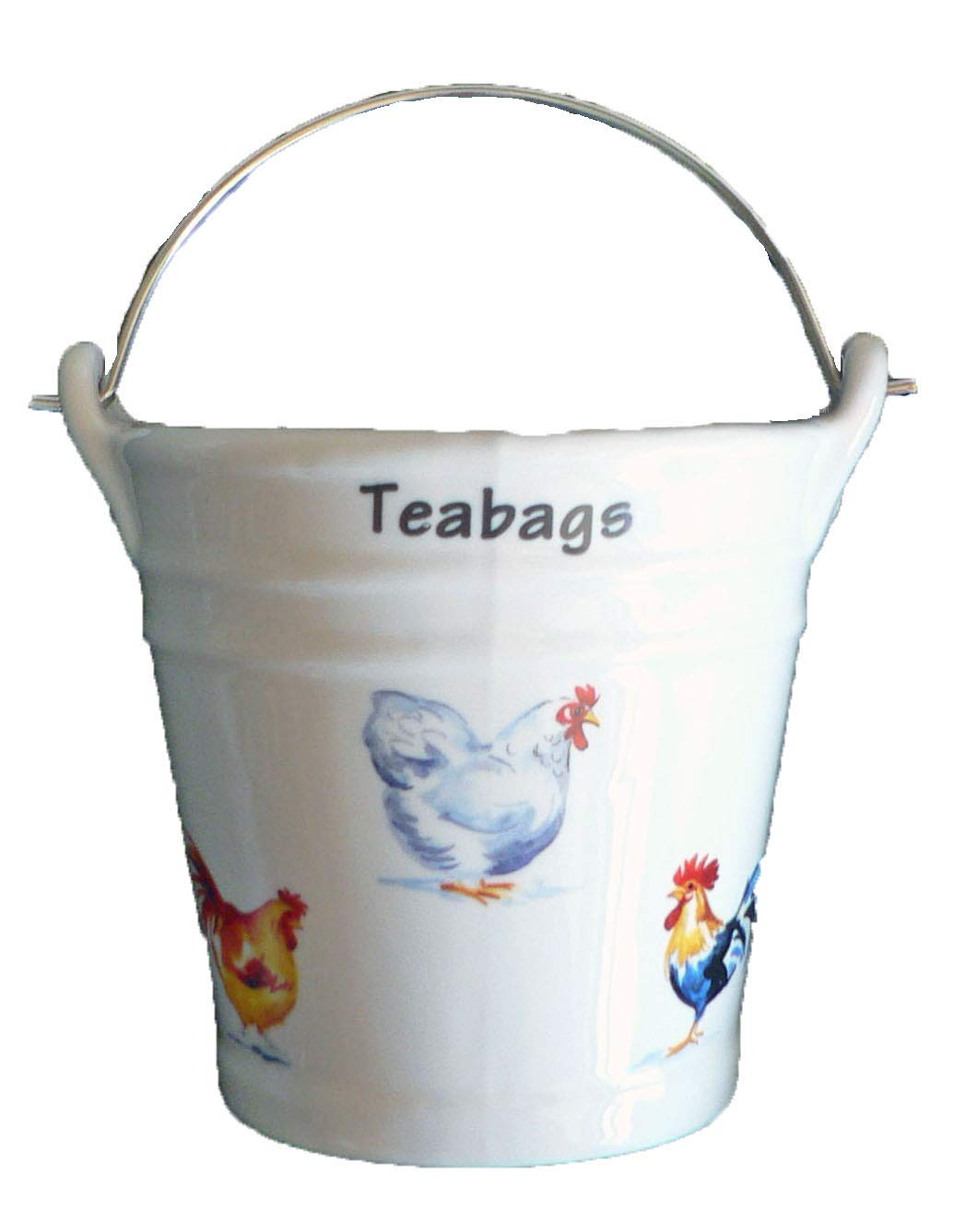 Chicken Design Bucket Teabag Tidy, Porcelain Bucket Teabag Tidy crackinchina
