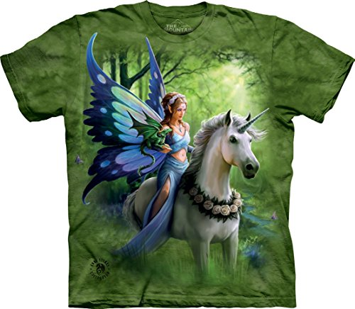 (The Mountain Realm of Enchantment Child T-Shirt, Green, XL)