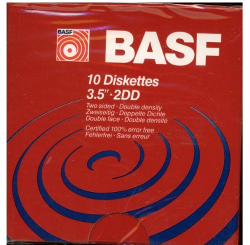 BASF 3.5 Inch Two Sided Double Density Floppy Disk - 10 Pack by BASF