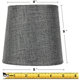 Nice 4x5x5 Granite Grey Burlap Drum Lampshade By Home Concept   Perfect For  Chandeliers, Foyer Lights
