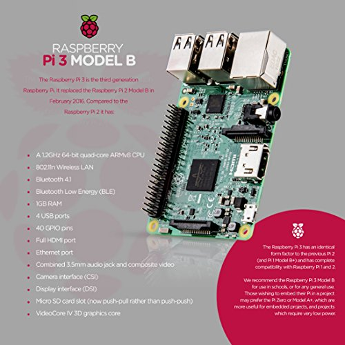 "Raspberry Pi 3 Ultimate Starter Kit – Complete Set Includes Raspberry Pi 3 Model B Motherboard, 7"" Touchscreen Display, Power Supply, 16GB SD Card, 2 Heatsinks, Official Case & 6ft HDMI Cable by NeeGo (Image #3)"