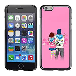 """Exotic-Star ( Love Couple Cute ) Fundas Cover Cubre Hard Case Cover para 4.7"""" iPhone 6"""
