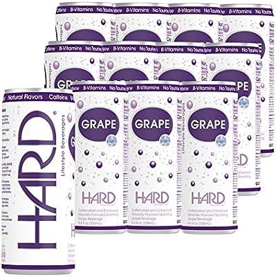 Amazon com : HARD GRAPE 12 Pack Caffeinated Low Calorie Non