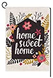 BLKWHT Home Sweet Home Garden Flag Vertical Double Sided Spring Summer Yard Outdoor Decorative