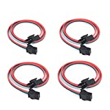 4 pcs/Pack 0.5M 1.64ft 3 Pin JST SM Male Female Plug LED Connector Cable for WS2812B WS2811 SK6812 Symphony LED Lights with connectors,SM3P Buckle Free Welding Plug Light Controller Wire