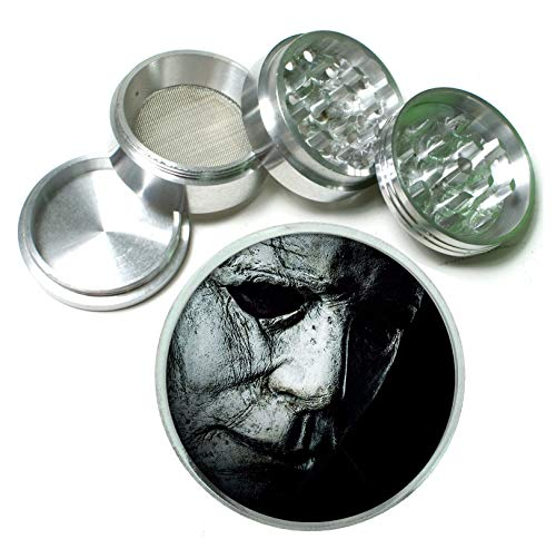 Halloween Horror Classic Scary The Shape Aluminum Tobacco Herb Spice Grinder -