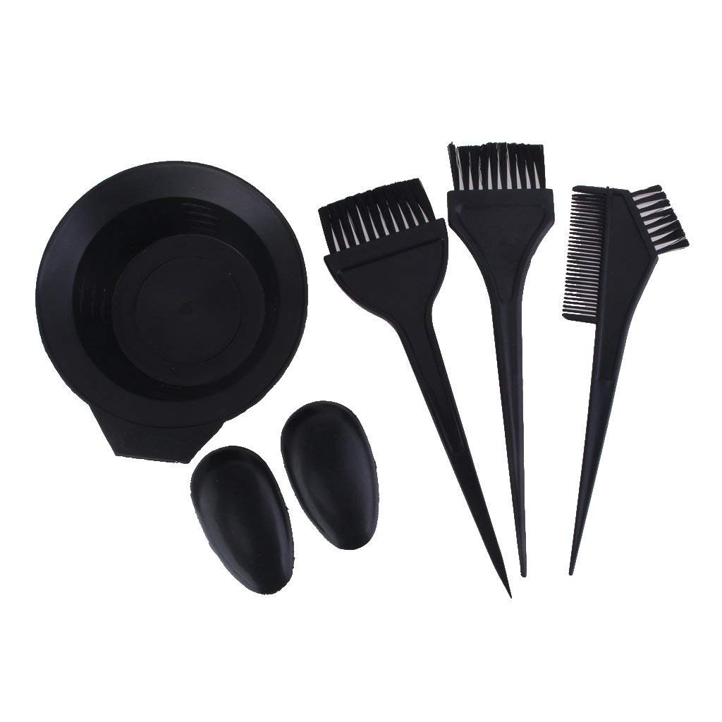 Ndier Salon Hair Color Dye Bowl Comb Brush Set Hairdressing Tint Tools - B