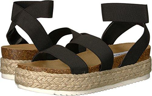 Steve Madden Women's Kimmie Wedge Sandal, Black, 9 M US from Steve Madden