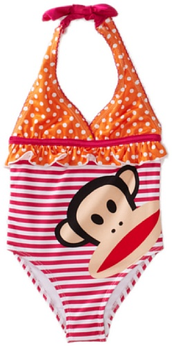Paul Frank Baby Girls' Twin Print One Piece Swimwear