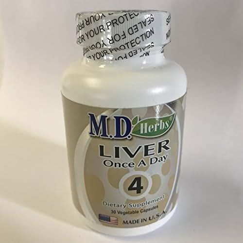 Liver Detoxifier & Regenerator - Liver 4 Dietary Supplement - 30 Vegetable Capsules by M.D. Herbs