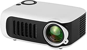 Kids Projector,iRULU Mini Portable Video Movie Projector,Home Theater Palm Size Projector with HDMI Headphone for Kids Children Education White