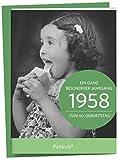 1958 - Ein ganz besonderer Jahrgang Zum 60. Geburtstag: Jahrgangs-Heftchen mit Kuvert