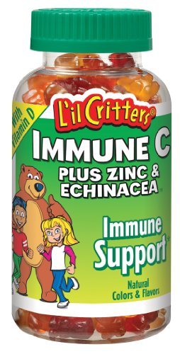 L'Critters nageurs immunitaire C Plus ours gommeux de zinc et de l'échinacée, 190-Comte