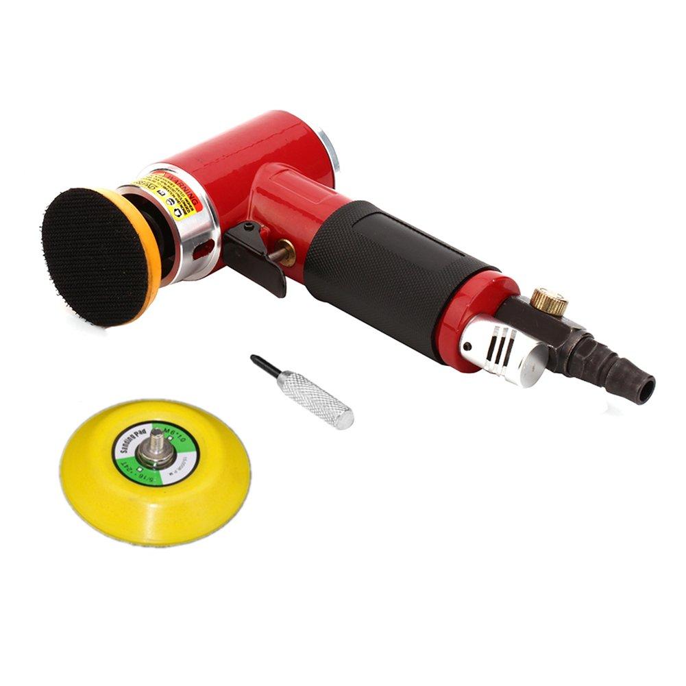2'' 3'' Mini Air Sander Professional Dual Action Pneumatic Polishing Tool (Random Orbital Sander)
