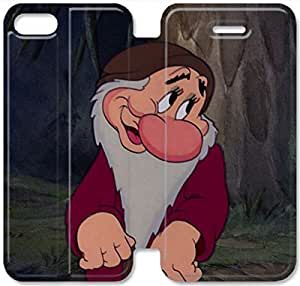 Disney Snow White And The Seven Dwarfs Character Dopey-7 iPhone 5C Leather Flip Case Protective Cover New Colorful