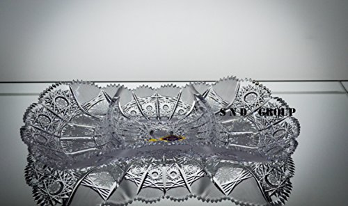 BOHEMIA CRYSTAL GLASS PLATE BOWL PLATTER 13