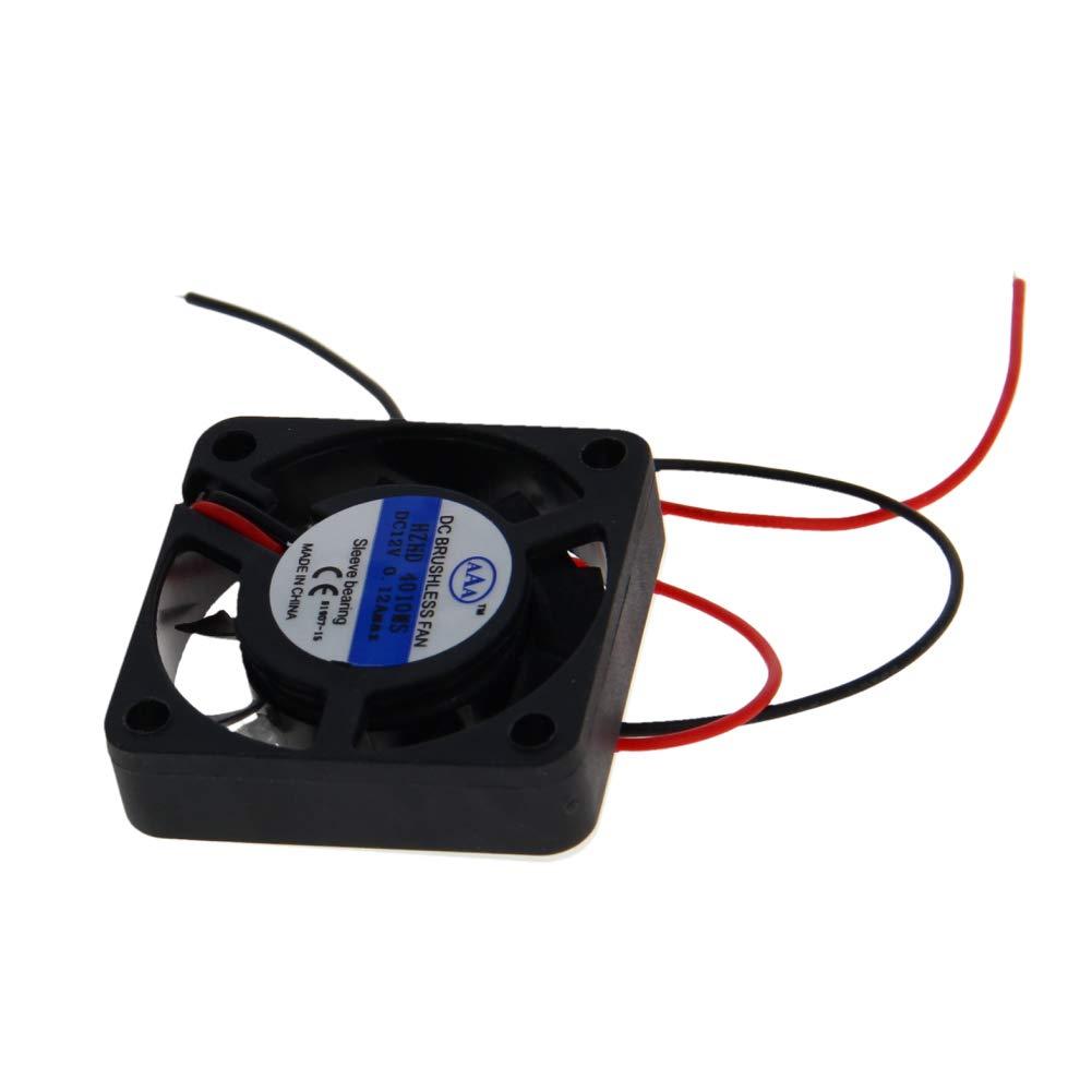 Othmro 40mm X 40mm X 10mm 12v Brushless Dc Cooling Fan 4010MS 1pcs