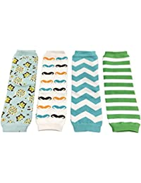 4 Pack Baby Leg Warmer Set & Toddler Leg Warmer Set for Boys & Girls