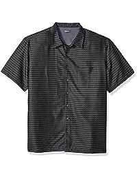 Van Heusen mens Big and Tall Short Sleeve Rayon Poly Engineered Panel Shirt
