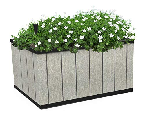 Keter 240958 Sequoia Planter Box, Medium Grey