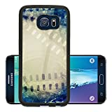 Liili Premium Samsung Galaxy S6 Edge Aluminum Backplate Bumper Snap Case Old motion picture film reel with film strip Vintage background 29344544