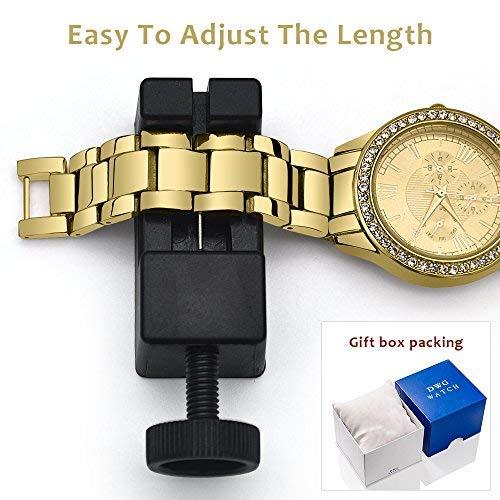 Amazon.com: DWG Woman Watch, Bracelet Wrist Watch, Casual Gold Rhinestone Elegant Round Quartz Ladies Dress Watches: Jewelry