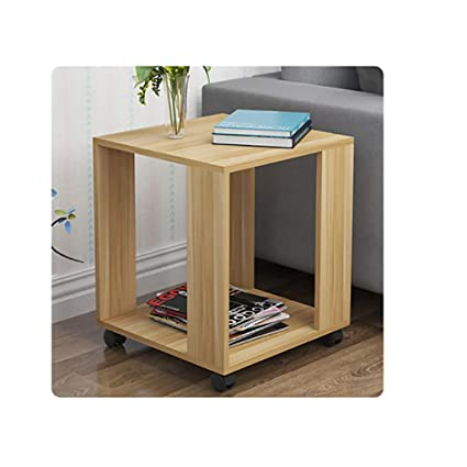 Indian Decor 90011 Standard Size Coffee Table Small Living Room Sofa Side Table Bedroom Bedside Table With Wheels Movable Size 40cm Amazon In Home Kitchen