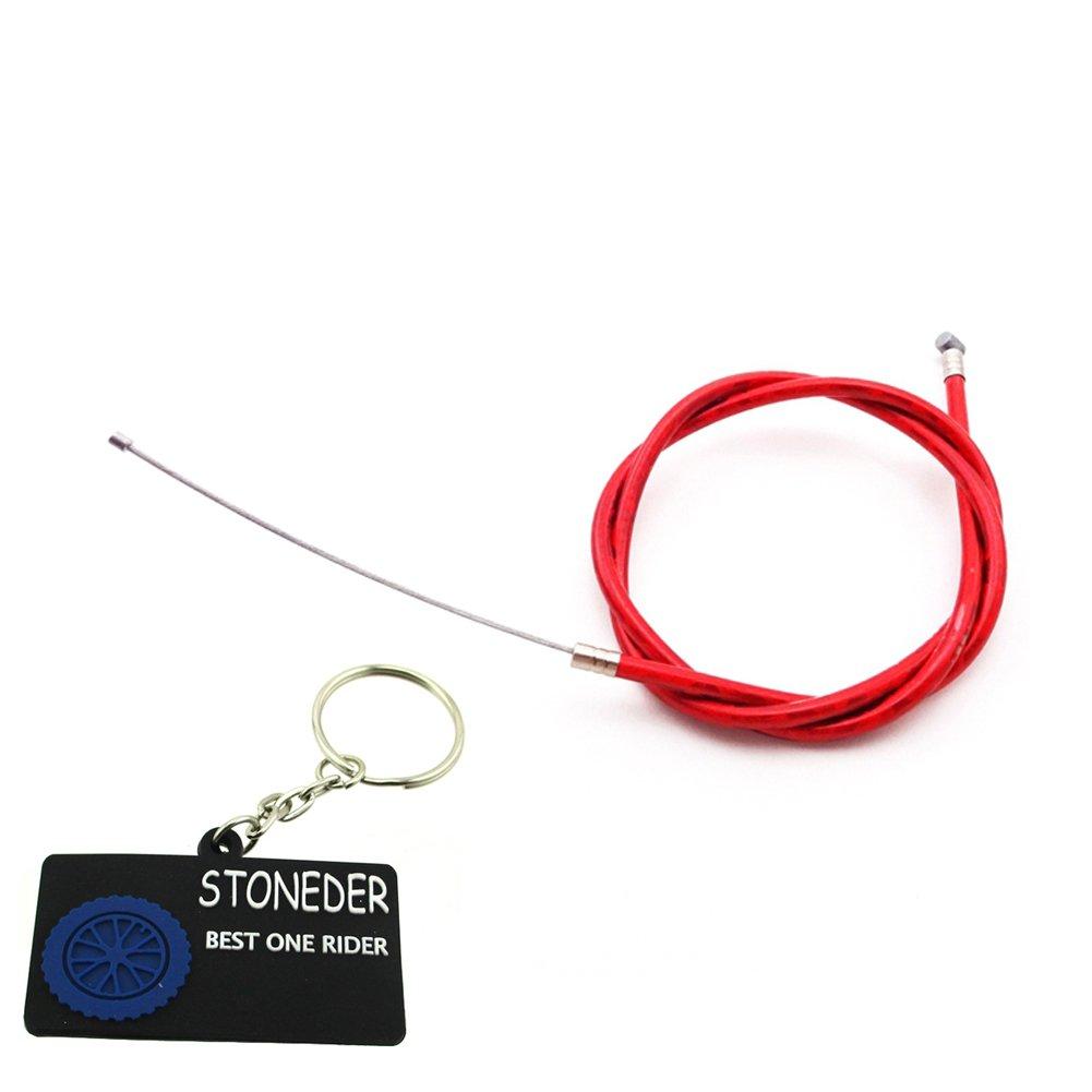 stoneder rojo Gas Cable del acelerador para 2 tiempos 43 cc 47 cc 49 cc motor carburador Carb Mini bolsillo moto niñ os ATV Quad Dirt Super Bike