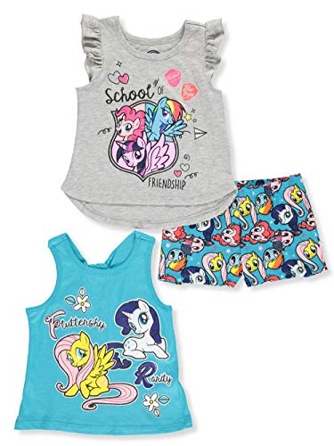 My Little Pony Girls 3PC Shirts and Short Set -