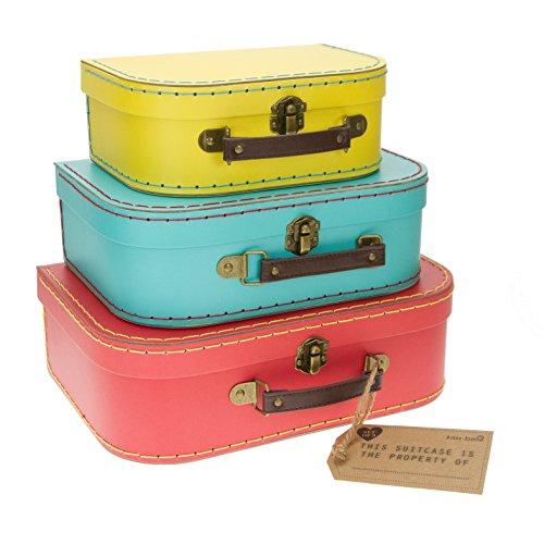 Sass /& Belle Pastel Set of 3 Retro Suitcases