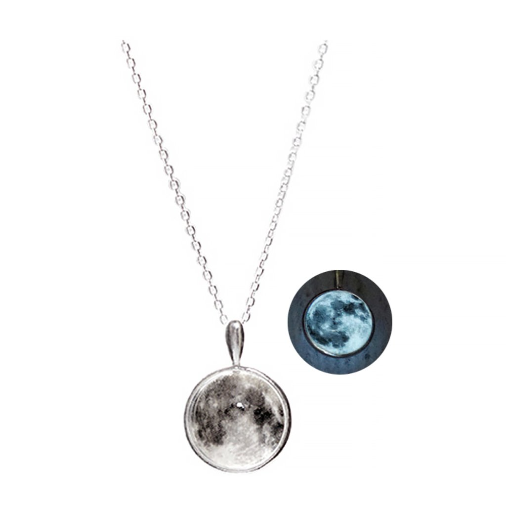 WINGBLING Women White Moon Luminous Glow In The Dark (Necklace)