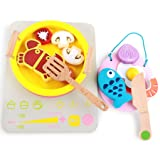 Harmily Kids Wooden Simulation Induction Cooker