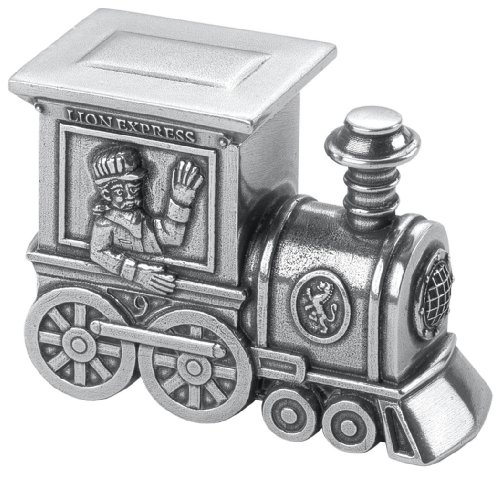 Danforth - Train Pewter Toothfairy Box - Handcrafted - Gift Boxed - Made in - Box Tooth Pewter Fairy