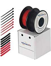 Fermerry 14 Gauge Silicone Stranded Wire Kit Electric Hook-up Wire Black and Red 25Ft Each Tinned Copper Wire