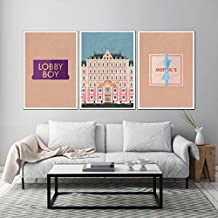 Grand Budapest Hotel Poster set, Grand Budapest Hotel prints, Grand Budapest Hotel home decor, Wes Anderson print, All Prints avialable in 9 SIZES and 3 type of MATERIALS