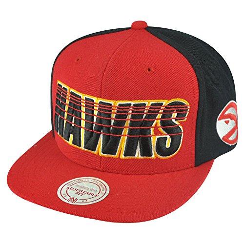 NBA Mitchell Ness Atlanta Hawks NZG22 Running Lines Snapback Flat Bill Hat Cap