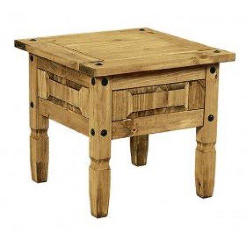 Mercers Furniture Corona Lampentisch, Holz, Antique Wax, 59 x 59 x 53 cm