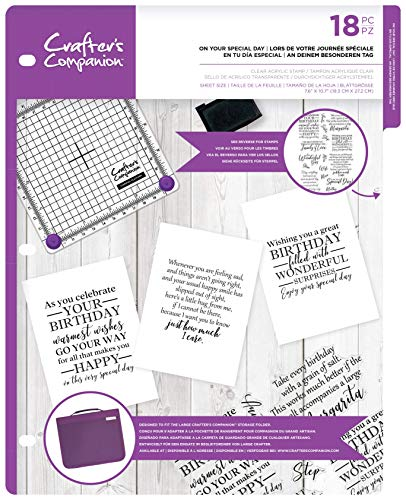 Crafters Companion CC-CA-ST-Ony Clear Acrylic Stamps-On Your Special Day, us:one Size