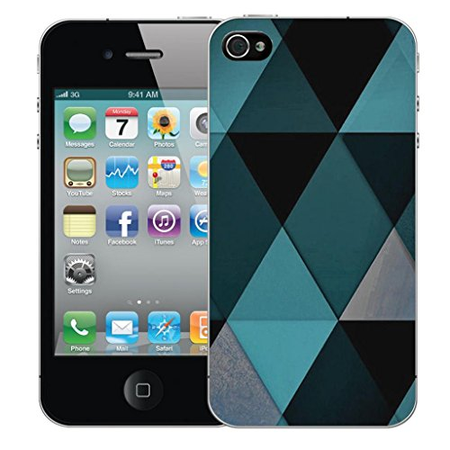 Mobile Case Mate iPhone 5 5s clip on Dur Coque couverture case cover Pare-chocs - blue diamond Motif