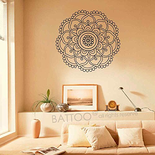 Amazon.com: BATTOO Mandala Wall Decal Namaste Lotus Flower ...