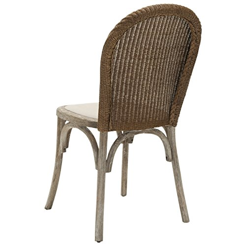 Safavieh Mercer Collection Sharon Finish Taupe Side Chairs, Antique Oak, Set of 2 by Safavieh (Image #4)